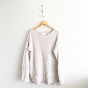 Lou & Grey Dusty Gray Oversize Tunic Sweater